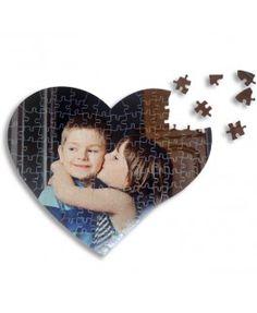 Puzzle corazón de 104 piezas personalizado