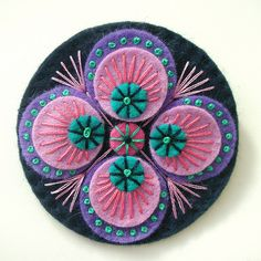 PEACOCK INSPIRED FELT BROOCH by APPLIQUE-designedbyjane, via Flickr
