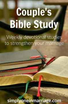 Couple's Bible Study These weekly devotional Bible studies for couples include discussion questions. They are designed to help you strengthen your marriage as you seek God together and grow in oneness. Godly Marriage, Marriage Relationship, Happy Marriage, Marriage Advice, Love And Marriage, Relationships, Godly Wife, Healthy Marriage, Successful Marriage