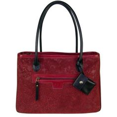 Grand sac angela cuir rouge et noir fabriqué en france France, Vintage, Red Leather, Book Bags, Beautiful Bags, Large Bags, Unique Jewelry