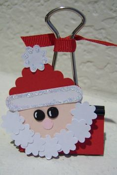 Santa (binder clip)Photo Holder