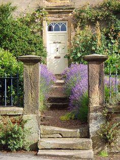 Derbyshire village, England maybe Hartington Modern Country Style, England, Longwood Gardens, English Countryside, Derbyshire, Garden Gates, Shade Garden, Beautiful Gardens, Paths