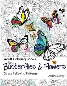 Beautiful Butterflies And Flowers For Adult Coloring From Amazon Ad