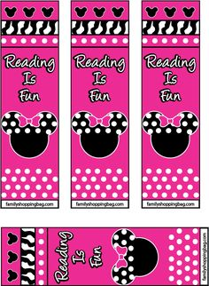 Minnie Mouse Party Bookmarks