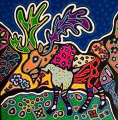 #mooseart #canadianartist #lauraobrienartist #canadianart #newfoundlandart #ontarioart #canada Canadian Artists, Cover Photos, Ontario, Graphic Design, Visual Communication