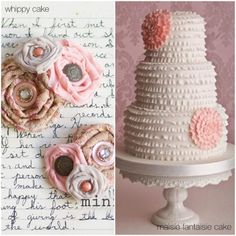 So pretty and probably delicious. I have no plans on getting married but I'd love to have this cake anyway.