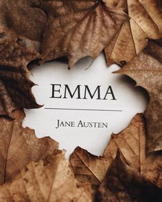 Emma by Jane Austen Tea And Books, I Love Books, Books To Read, My Books, Book Writer, Book Nerd, Book Dedication, Emma Jane Austen, Commonplace Book