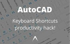 This Awesome productivity hack shows you how to edit the PGP file to create your own AutoCAD keyboard shortcuts and speed up drawing! Computer Programming, Computer Science, Autocad 2015, Learn Autocad, Building Information Modeling, Cad Software, Keyboard Shortcuts, Productivity Hacks, Architecture Student
