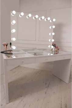 Vanity Mirror With Lights And Desk.Tribesigns Vanity Set With Lighted Mirror Makeup Vanity . Furniture: Interesting Ikea Makeup Vanity For Your Bedroom . 50 Makeup Vanity Table With Lights You'll Love In 2020 . Home and Family Dressing Table Lights, Dressing Table Vanity, Dressing Tables, Glass Vanity Table, Vanity Tables, Dressing Table With Glass Top, Dressing Table With Hollywood Mirror, Hollywood Mirror Diy, Hollywood Room
