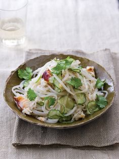 Rice Noodles with Fresh Crab