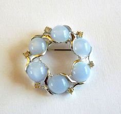 Vintage Blue Moonglow Brooch by MaisonChantalMichael on Etsy - I don't really wear brooches but might make an exception