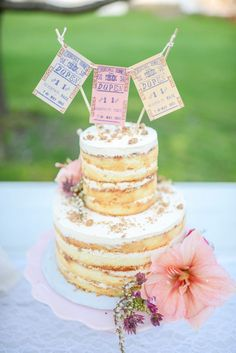 brides of adelaide magazine - naked wedding cake - wedding cake