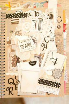 Sepia smash book #smash #book #journal #creative