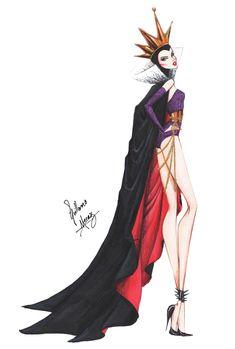 Evil Queen in Haute Couture by Guillermo Meraz by frozen-winter-prince.deviantart.com on @deviantART