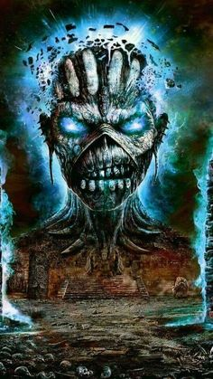 Iron Maiden The Book of Souls Hard Rock, Heavy Metal Rock, Heavy Metal Bands, Rock Posters, Band Posters, Iron Maiden Mascot, Iron Maiden Albums, Iron Maiden Posters, Eddie The Head