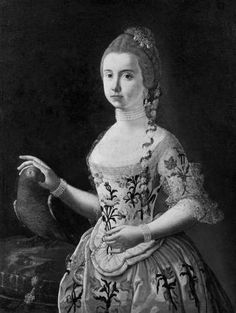 Portrait of a Young Woman with a Parrot  Unidentified artist, Spanish, second half 18th century, Spanish, second half 18th century