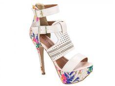 0b40fed75 sandália meia pata feminina bege floral torricella.