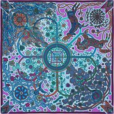 Seidentuch 90 x 90 cm Hermès | L'Arbre du Vent