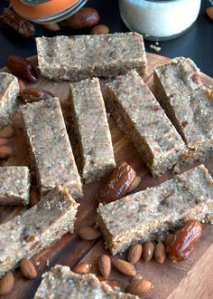 Almond Coconut Protein Bars with Hemp Seeds - Vegan, Gluten-Free, No-Bake http://www.runningonrealfood.com/almond-coconut-protein-bars-hemp-seeds/