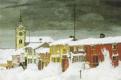 Harald Sohlberg, 'Lillegaten Røros' (1903).