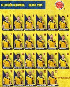 Nuestra selección Colombia! Nuestra selección es espectacular! Los amo! Brasil 2014 Copa del Mundo