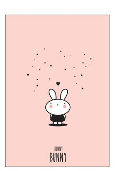Eef Lillemor Poster - Hunny Bunny - A4. 12,50 euro