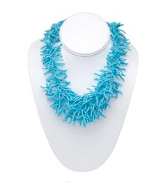 Design Darling home decor & monogrammed gifts — Turquoise Coral Necklace