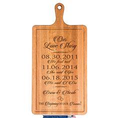 Shop Anniversary Classy Cherry Wood Cutting Board created by lifesongmilestones. Custom Cutting Boards, Engraved Cutting Board, Personalized Cutting Board, Personalized Anniversary Gifts, Personalized Wedding, Cheese Cutting Board, 30th Wedding Anniversary, Baby Dedication, Cherry