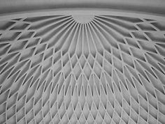 Pier Luigi Nervi, ceiling detail of the B Room in the Turin exhibition centre, 1948
