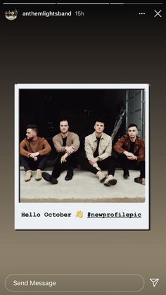 Anthem Lights, New Profile Pic, Hello October, Polaroid Film, Messages