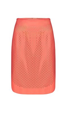 TAYLOR melon perforated leather skirt | Carlisle Collection | Per Se | Collections | Lookbook | Per Se | Spring 2014 | 14