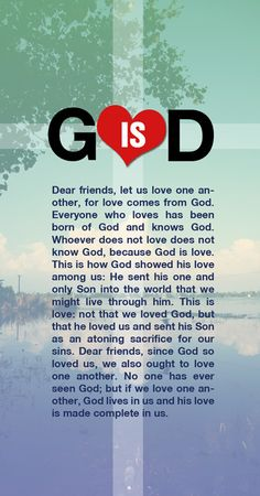 """You are welcome to share GOD's LOVE with others, because GOD is LOVE    """"Dear friends, let us love one another, for love comes from God. Everyone who loves has been born of God and knows God. Whoever does not love does not know God, because G  od is love...""""  -1 John 4:7-12    http://ibibleverses.christianpost.com/god-love/"""