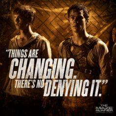 New still from 'The Maze Runner' with Newt and Thomas featured in promotional graphic