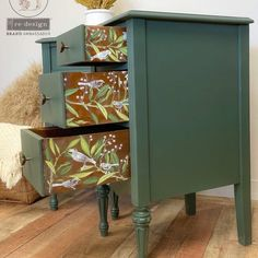 Funky Painted Furniture, Refurbished Furniture, Repurposed Furniture, Vintage Furniture, Chalk Paint Furniture, Restore Wood Furniture, Upcycled Furniture Before And After, Goodwill Furniture, Refinished Nightstand