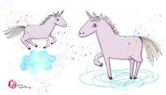 Einhorn / Unicorn Illustration by krikel - Kristina Nowothnig