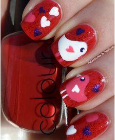 love bird nail art @gtl_clothing #getthelook http://gtl.clothing