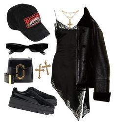 """""""Untitled #503"""" by youraveragestyle ❤ liked on Polyvore featuring Charlotte Russe, Alexander Wang, Vetements, Allurez, Dsquared2, Lee Renee, Marc Jacobs, Puma, Acne Studios and Rock 'N Rose"""