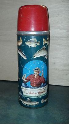 Vintage 1952 Aladdin Angler 1 Quart Thermos - LQQK !!!!!   eBay