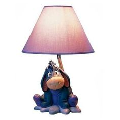 Disney EEYORE From Winnie the Pooh Table LAMP With Flowers ...