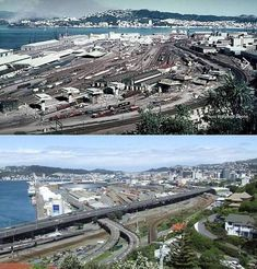 Thorndon Railway Yards 1968 & 2007   .. OWR 24 Jan 2018 Wellington New Zealand, Jan 2018, Police Vehicles, British Isles, Train Station, What Is Like, Cape Town, Yards, Pond