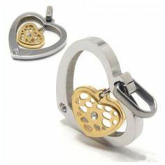 Heart-shaped titanium diamond necklace pendant 11856