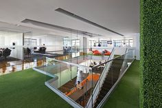 """Yep, I get to play, err, work here every day. """"@22squared Atlanta office, #LEED Gold Certified, designed by @GenslerOnCities"""" #22sq"""