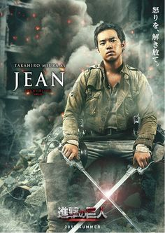 "Attack on Titan / Shingeki no Kyojin Live Action Cast: Takahiro Miura as Jean Kirchtein ""Angry Blade"""