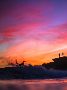 Surfing... sunset...