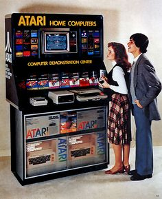An Atari Computer Demonstration Center, 1979.