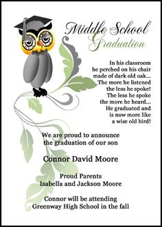 classy typography photo graduation high schooled invitation 8th grade middle school jr high school graduations pinterest high school - 8th Grade Graduation Invitations