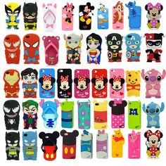 3D Cartoon Superhero Soft Silicone Rubber Case Cover For Apple & Samsung Galaxy in Cell Phones & Accessories | eBay