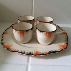 T.G. Green 'Flame' Egg Cup Set
