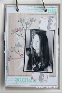 Histoire de cheveux!   MANOUSCRAP Mini Albums, Scrapbooking, Polaroid Film, Frame, Ikea Frames, Minis, Hair, Picture Frame, Scrapbooks