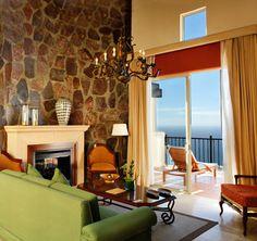 Living room at the Montecristo Estates in Cabo San Lucas, Mexico